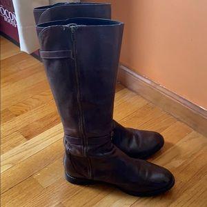 Cole haan knee high brown boots